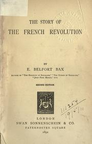 Cover of: The story of the French revolution