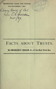 Cover of: Facts about trusts