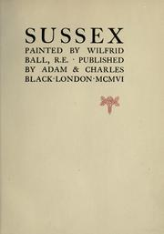 Cover of: Sussex | Wilfrid Ball