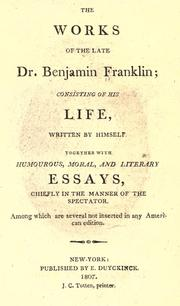Cover of: Works of the late Doctor Benjamin Franklin