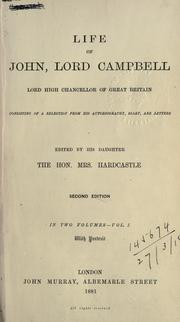 Cover of: Life of John, Lord Campbell, Lord High Chancellor of Great Britain