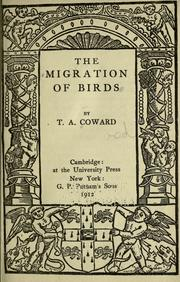 Cover of: The migration of birds