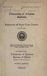 Cover of: Resources of Santa Cruz County