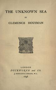 Cover of: Unknown sea | Clemence Housman