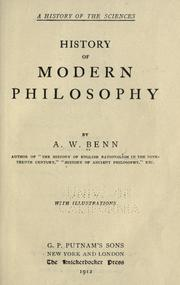 Cover of: History of modern philosophy