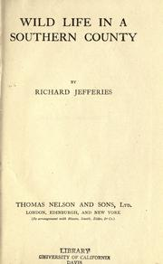Wild life in a southern county by Richard Jefferies