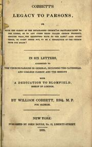 Cover of: Cobbett's legacy to parsons