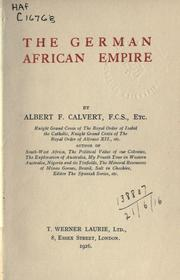 Cover of: The German African empire