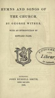 Cover of: Hymns and songs of the church