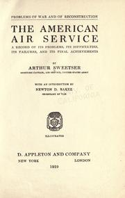 Cover of: The American air service