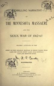 Cover of: A thrilling narrative of the Minnesota massacre and the Sioux war of 1862-63