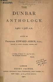 Cover of: The Dunbar anthology