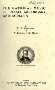 Cover of: The national music of Russia