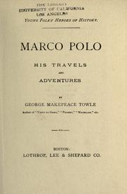 Cover of: Marco Polo