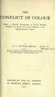 The conflict of colour by Putnam Weale, B. L.