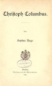 Cover of: Christoph Columbus
