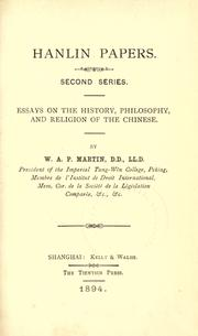 Hanlin papers by W. A. P. Martin