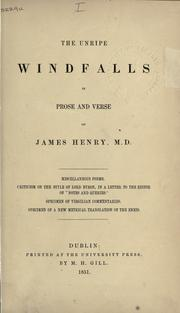 Cover of: The unripe windfalls, in prose and verse