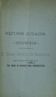Cover of: Reform Judaism