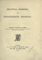Cover of: Practical geometry and engineering drawing by Sydenham, George Sydenham Clarke Baron