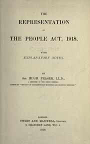 the representation of people act The 1918 representation of the people act gave women of property over the age  of 30 the right to vote – not all women, therefore, could vote – but it was a.