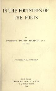 Cover of: In the footsteps of the poets