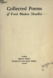 Cover of: Collected poems of Ford Madox Hueffer