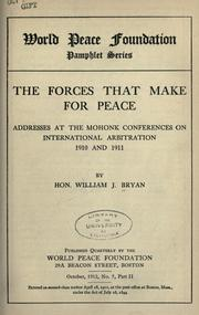 Cover of: The forces that make for peace