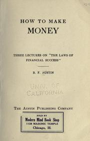 Cover of: How to make money | B. F. Austin