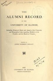Cover of: The alumni record of the University of Illinois