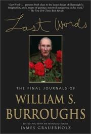 Cover of: Last Words: The Final Journals of William S. Burroughs