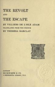 Cover of: The revolt and The escape