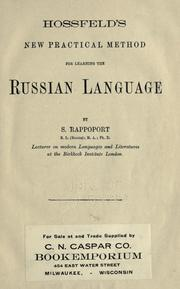 Cover of: Hossfield's new practical method for learning the Russian language