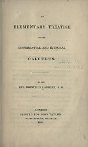 Cover of: An elementary treatise on the differential and integral calculus