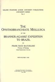 The opisthobranchiate Mollusca of the Branner-Agassiz expedition to Brazil by MacFarland, Frank Mace