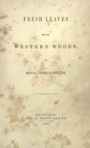 Cover of: Fresh leaves from western woods