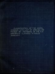 Cover of: Classification of the animal kingdom