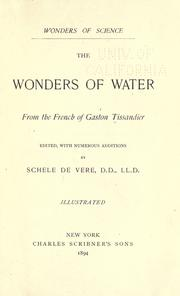 Cover of: Wonders of water