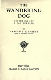 Cover of: The wandering dog: adventures of a fox-terrier.