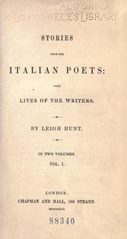 Stories from the Italian poets by Leigh Hunt