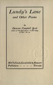 Cover of: Lundy's Lane and other poems