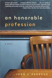 Cover of: An honorable profession