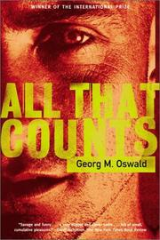 Cover of: All That Counts | Georg M. Oswald