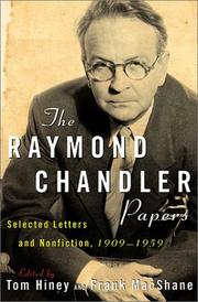 Cover of: The Raymond Chandler Papers |
