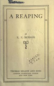 Cover of: A reaping