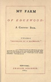Cover of: My farm of Edgewood - 1864