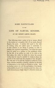 Cover of: Life of Samuel Rogers