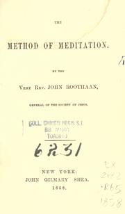 Cover of: The method of meditation