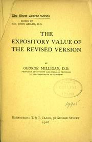 Cover of: The expository value of the revised edition