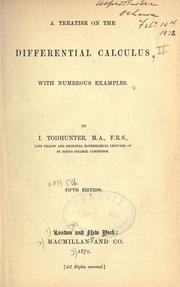 Cover of: A treatise on the differential calculus, with numerous examples